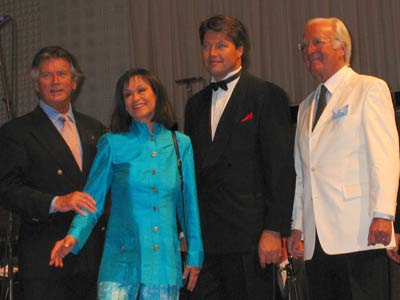 Pierre Brice, Marie Versini, Christopher Barker and Martin Böttcher at the concert in Luzern