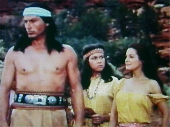 In the Indian village (with Jill Jarmyn and Joan Taylor)