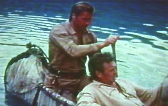 Lex in the canoe with Forrest Tucker